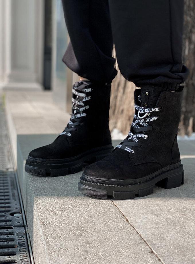 Кожаные ботинки Legion на флисе ED_LG-01, фото 1 - в интернет магазине KAPSULA