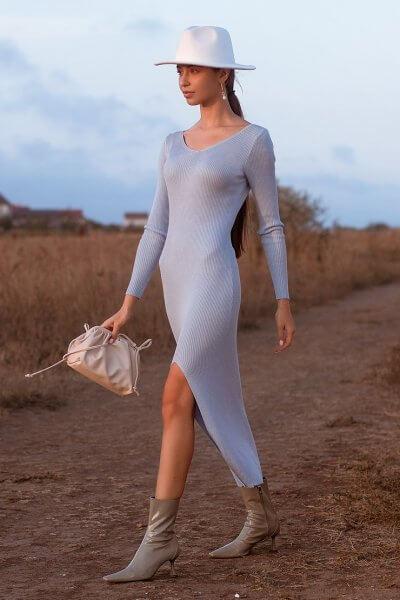 Платье MARA c разрезом JDW_J.D.0510, фото 1 - в интеренет магазине KAPSULA