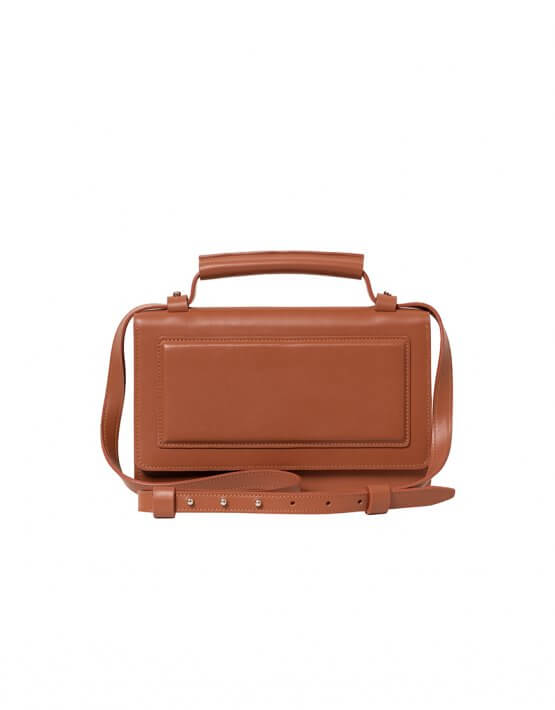 Кожаная сумка BONY BN2- caramel, фото 7 - в интеренет магазине KAPSULA