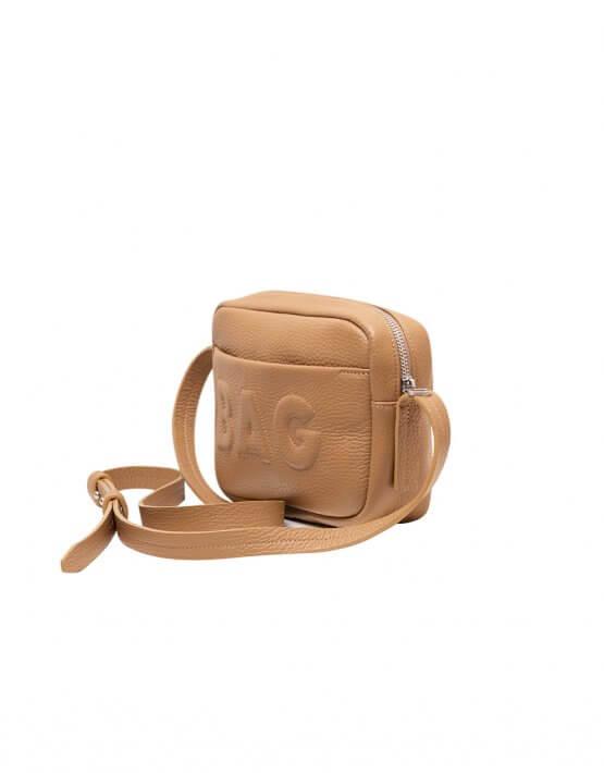 Сумка  из кожи со съемным карманом KLNA_Bag-caramel, фото 4 - в интеренет магазине KAPSULA