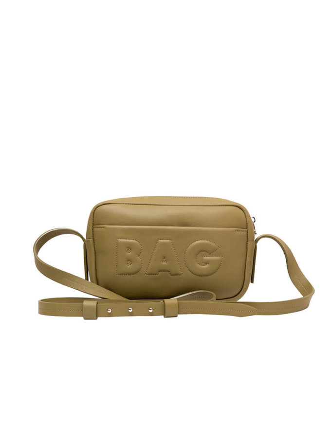 Сумка  из кожи со съемным карманом KLNA_Bag-olive, фото 1 - в интернет магазине KAPSULA