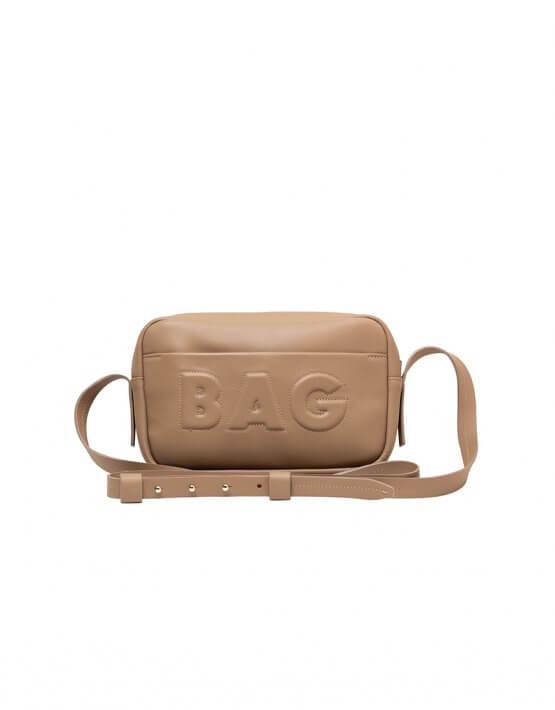 Сумка  из кожи со съемным карманом KLNA_Bag-taup, фото 5 - в интеренет магазине KAPSULA