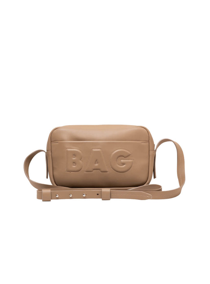 Сумка  из кожи со съемным карманом KLNA_Bag-taup, фото 1 - в интеренет магазине KAPSULA