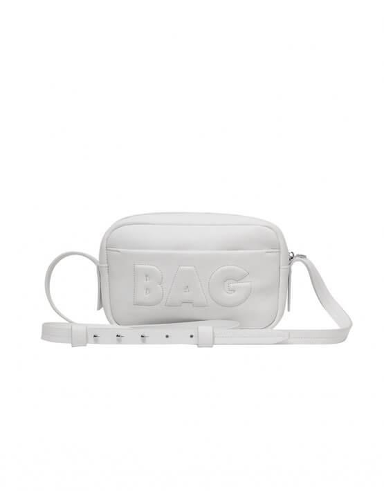 Сумка  из кожи со съемным карманом KLNA_Bag-white, фото 6 - в интеренет магазине KAPSULA