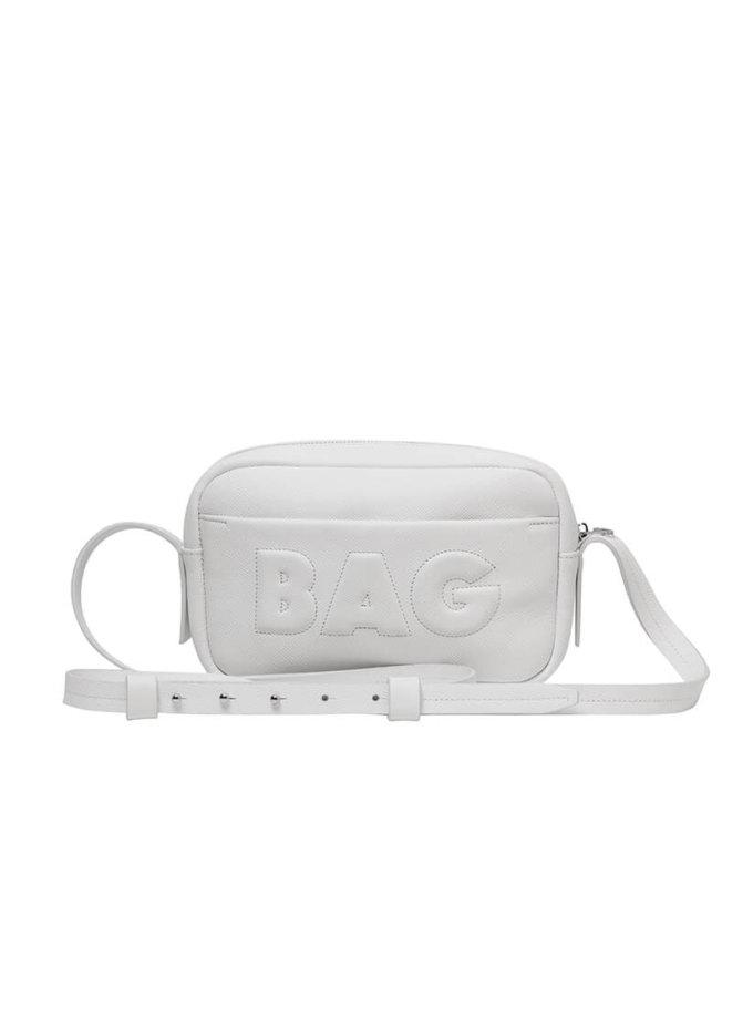Сумка  из кожи со съемным карманом KLNA_Bag-white, фото 1 - в интеренет магазине KAPSULA