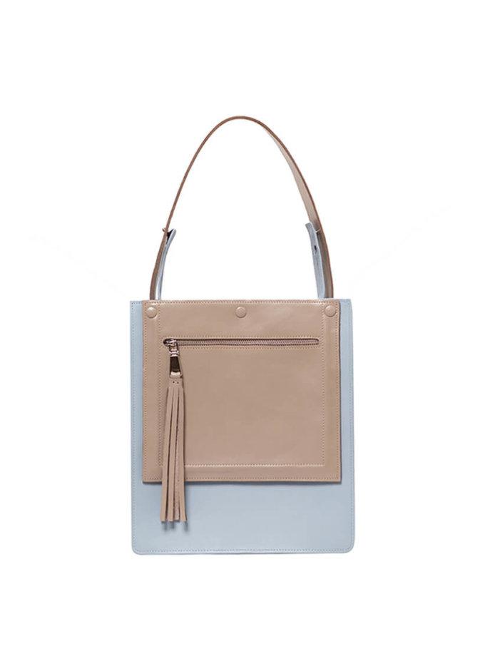 Сумка  из кожи со съемным карманом KLNA_Fx-blue, фото 1 - в интеренет магазине KAPSULA