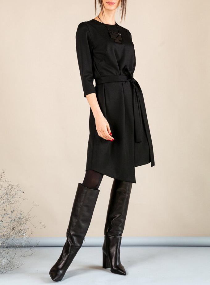 Платье А-силуэта с вырезом сзади MMT_042b_black, фото 1 - в интеренет магазине KAPSULA
