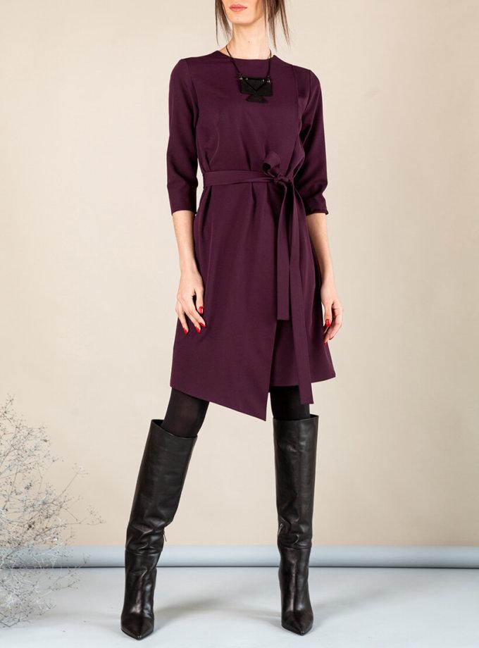Платье А-силуэта с вырезом сзади MMT_042b_blackberry, фото 1 - в интеренет магазине KAPSULA