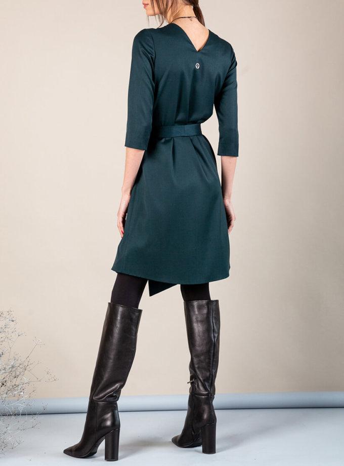Платье А-силуэта с вырезом сзади MMT_042b_dark_green, фото 1 - в интеренет магазине KAPSULA