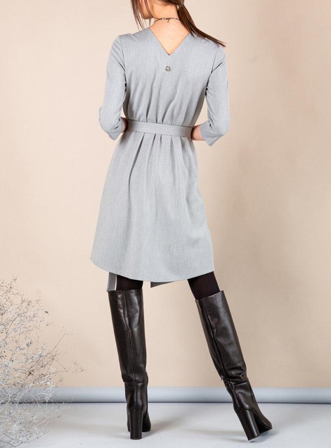 Платье А-силуэта с вырезом сзади MMT_042b_grey, фото 1 - в интеренет магазине KAPSULA