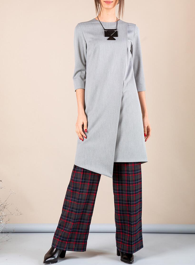 Платье А-силуэта с вырезом сзади MMT_042b_grey, фото 1 - в интернет магазине KAPSULA