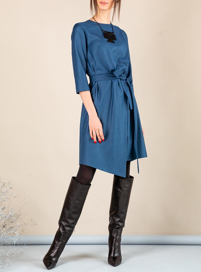 Платье А-силуэта с вырезом сзади MMT_042b_sea_wave, фото 1 - в интернет магазине KAPSULA