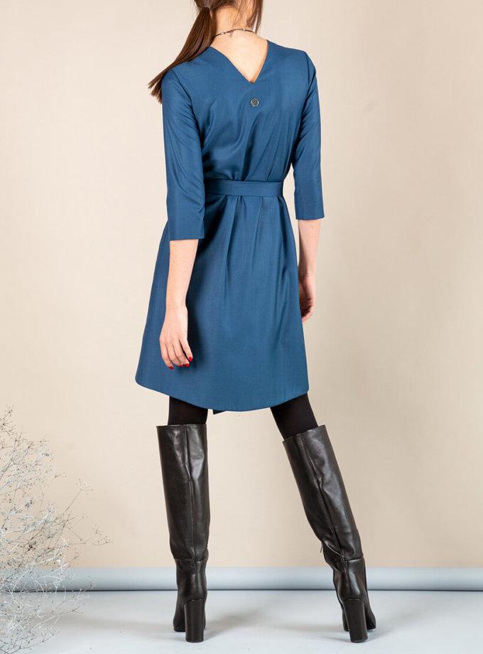 Платье А-силуэта с вырезом сзади MMT_042b_sea_wave, фото 1 - в интеренет магазине KAPSULA