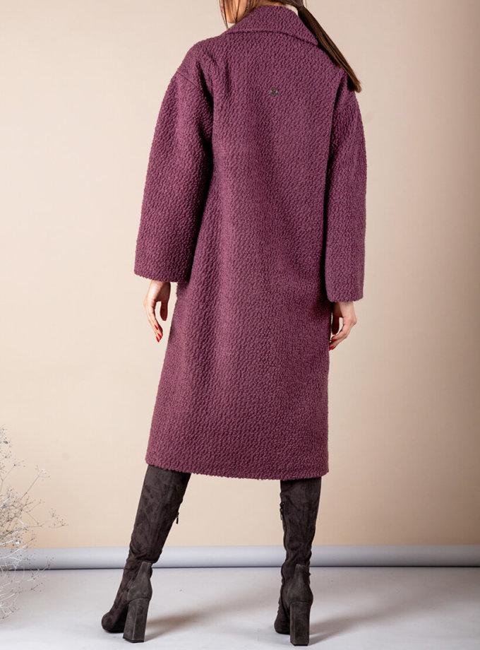 Утепленное пальто из шерсти MMT_091_boucle_grapes, фото 1 - в интернет магазине KAPSULA