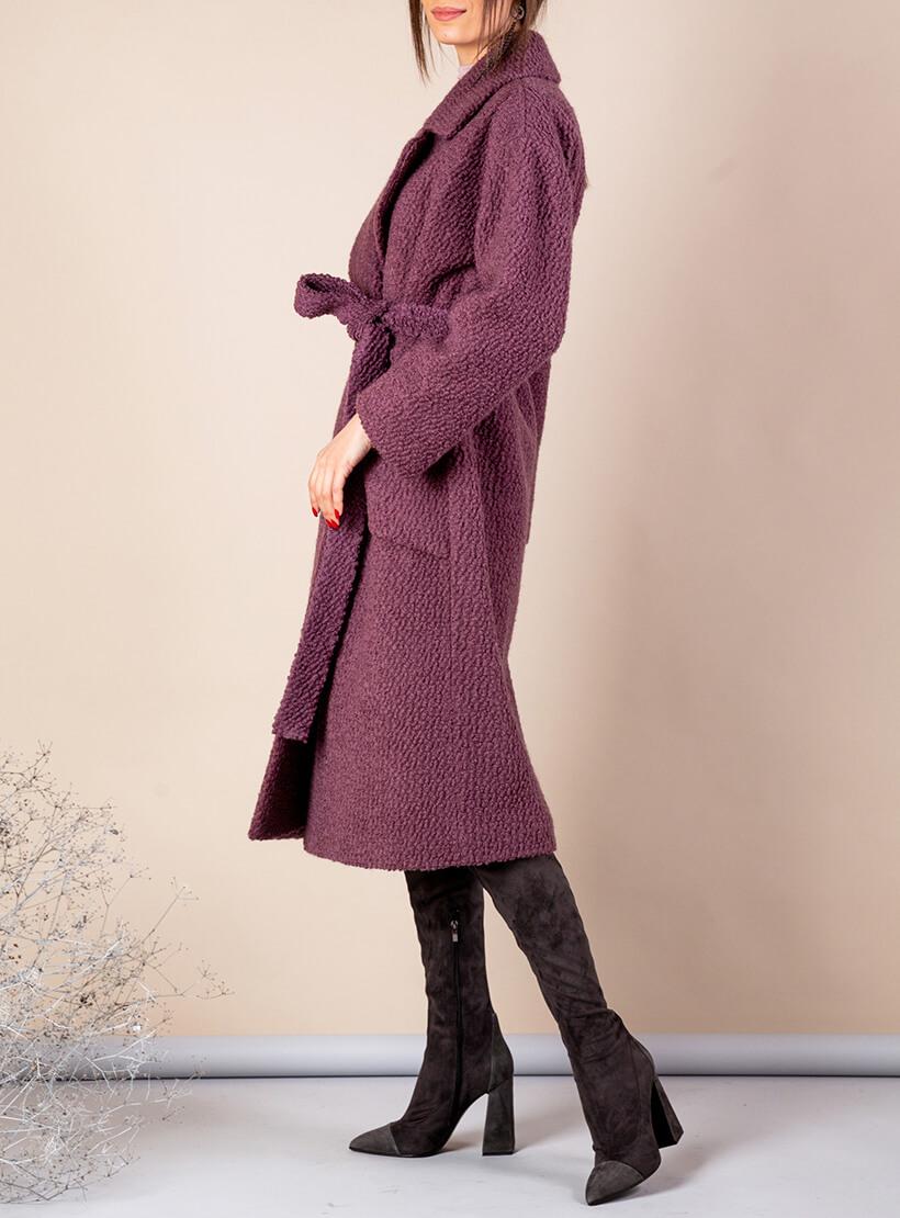 Утепленное пальто из шерсти MMT_091_boucle_grapes, фото 1 - в интеренет магазине KAPSULA