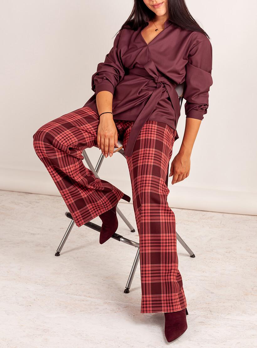 Костюм с брюками в клетку MMT_101a_014a_plum, фото 1 - в интернет магазине KAPSULA