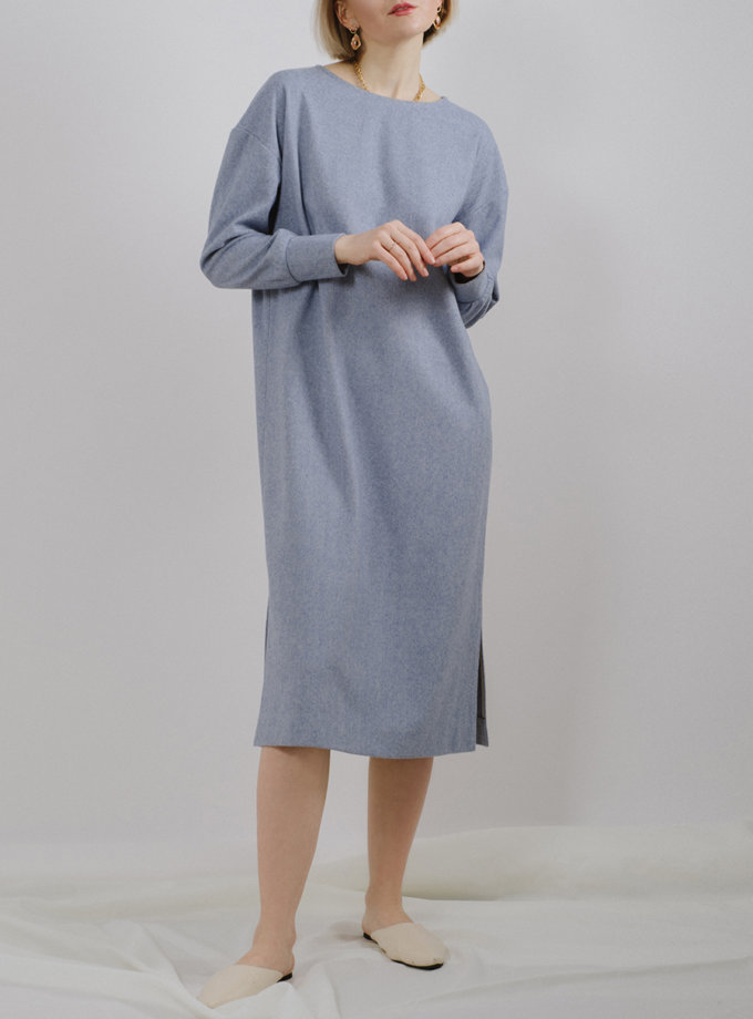 Платье прямого силуэта с разрезами MNTK_MTF2025, фото 1 - в интернет магазине KAPSULA
