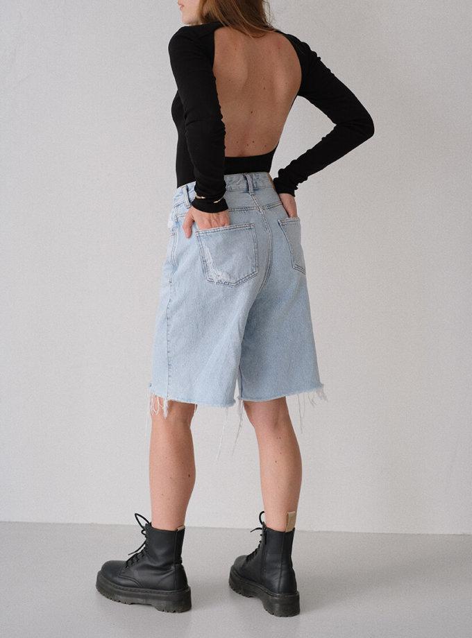 Боди из хлопка с открытой спиной MSY_Body_turtleneck, фото 1 - в интеренет магазине KAPSULA