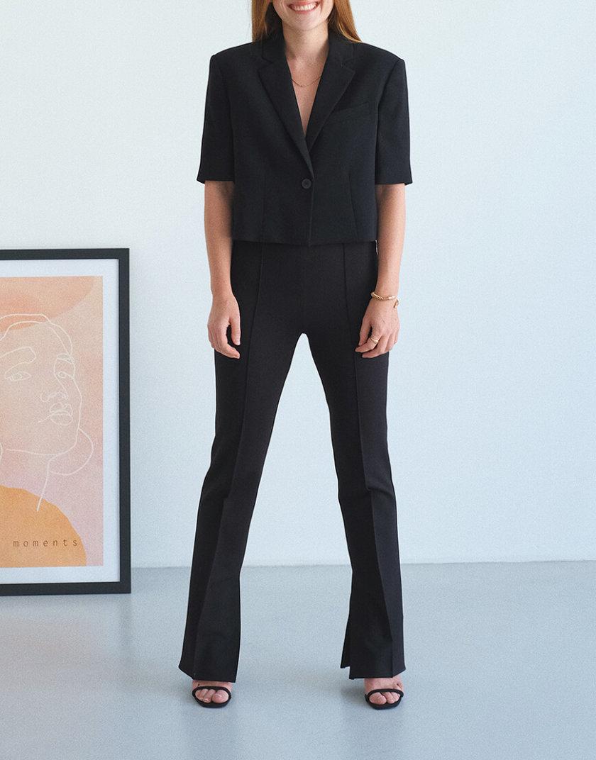 Корректирующие брюки с разрезами MSY_black_pants, фото 1 - в интеренет магазине KAPSULA
