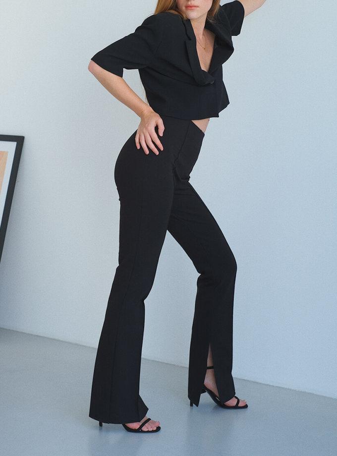 Корректирующие брюки с разрезами MSY_black_pants, фото 1 - в интернет магазине KAPSULA