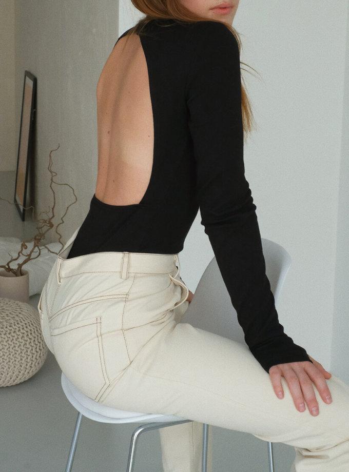Боди из хлопка с открытой спиной MSY_body_openback, фото 1 - в интеренет магазине KAPSULA