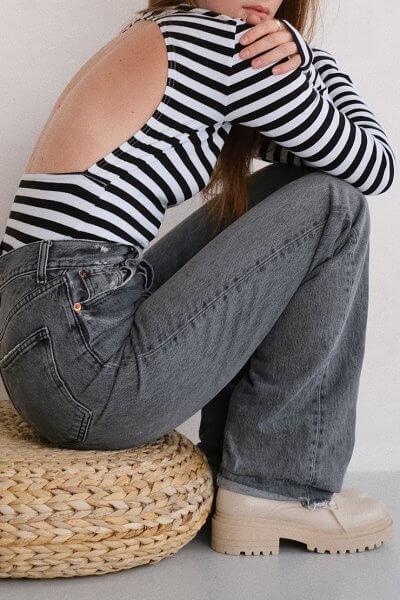 Боди из хлопка с открытой спиной MSY_body_openback_st, фото 1 - в интеренет магазине KAPSULA