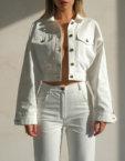 Укороченный топ с рукавами MSY_knitwear_top_nude, фото 5 - в интеренет магазине KAPSULA