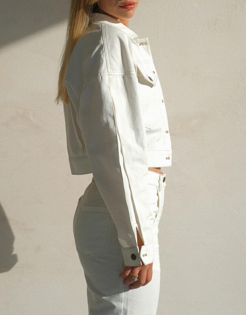 Укороченная куртка из денима MSY_denim_jacket_white, фото 1 - в интеренет магазине KAPSULA