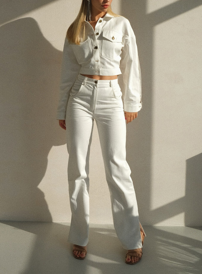 Брюки из денима с разрезами MSY_denim_pants_white, фото 1 - в интеренет магазине KAPSULA