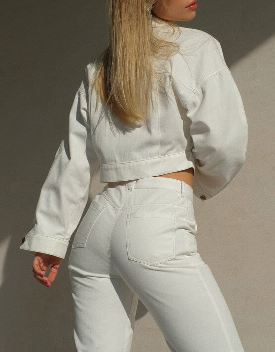 Брюки из денима с разрезами MSY_denim_pants_white, фото 5 - в интеренет магазине KAPSULA