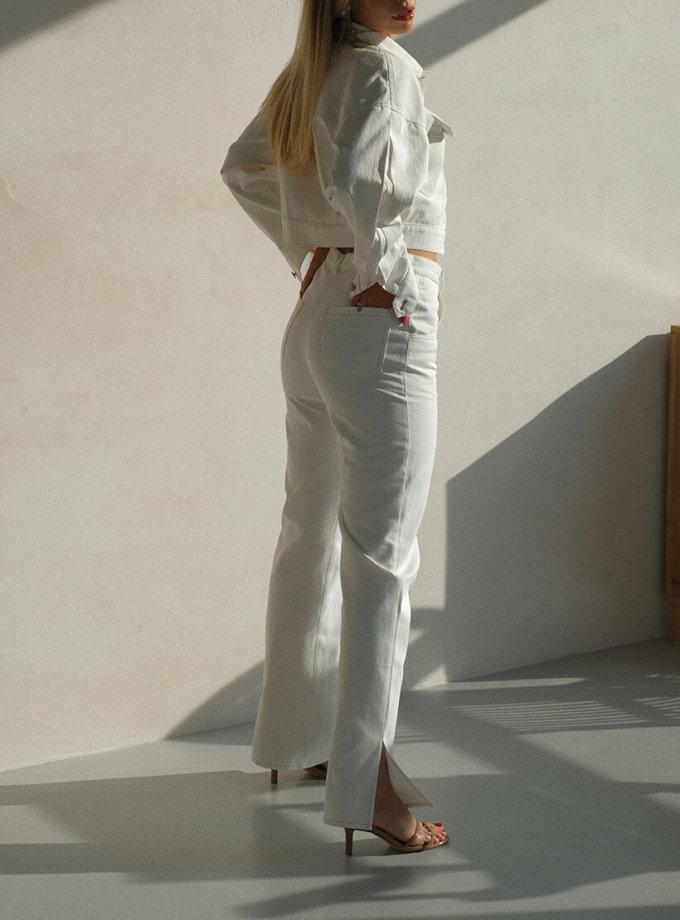 Брюки из денима с разрезами MSY_denim_pants_white, фото 1 - в интернет магазине KAPSULA