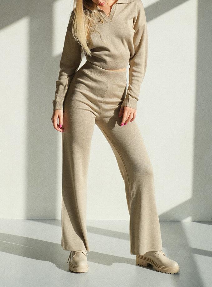 Брюки-палаццо MSY_knitwear_pants_nude, фото 1 - в интеренет магазине KAPSULA