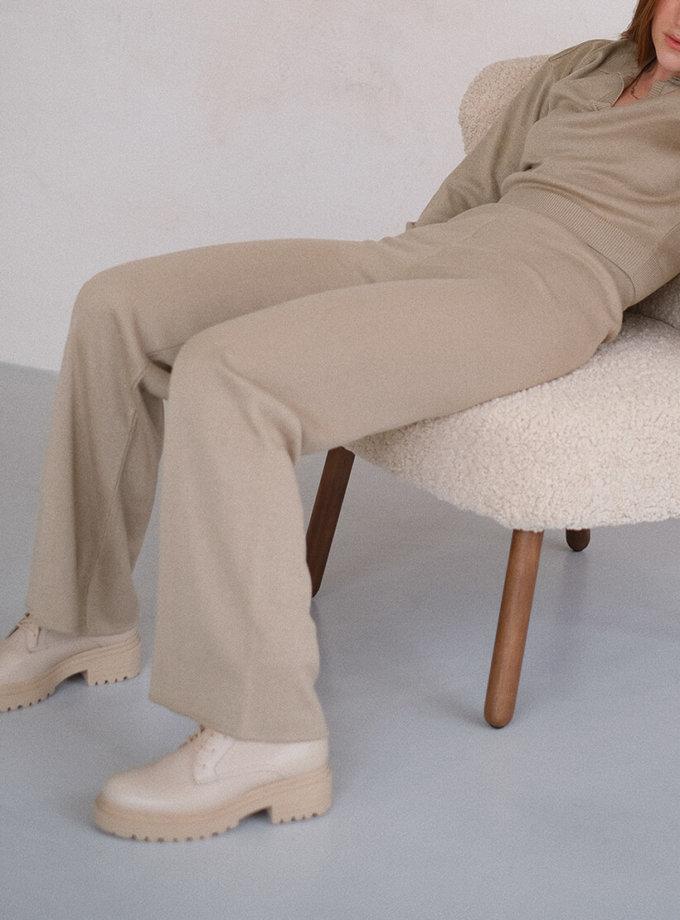 Брюки-палаццо MSY_knitwear_pants_nude, фото 1 - в интернет магазине KAPSULA