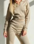 Укороченный топ с рукавами MSY_knitwear_top_ivory, фото 2 - в интеренет магазине KAPSULA