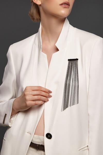 Брошь вуаль с косым срезом NTB_NB064BR, фото 3 - в интеренет магазине KAPSULA