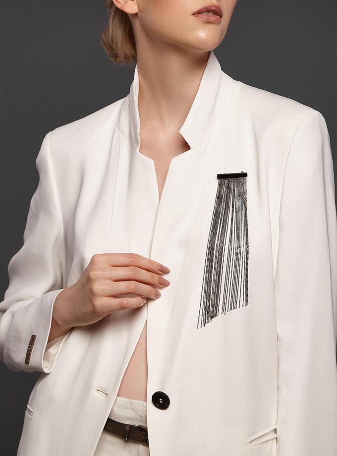Брошь вуаль с косым срезом NTB_NB064BR, фото 1 - в интеренет магазине KAPSULA