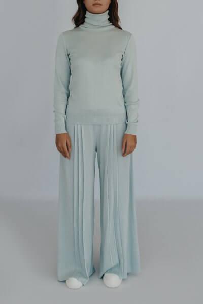Вязаные брюки плиссе NBL_2008 - TRPLBLU, фото 1 - в интеренет магазине KAPSULA