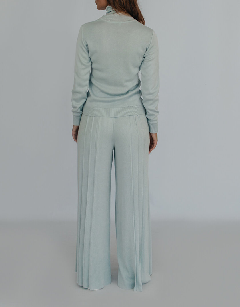 Вязаные брюки плиссе NBL_2008 - TRPLBLU, фото 1 - в интернет магазине KAPSULA