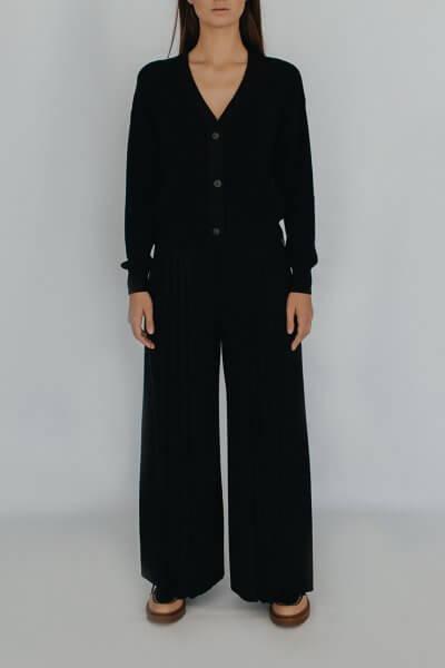 Вязаные брюки плиссе NBL_2008 - TRPLBLack, фото 1 - в интеренет магазине KAPSULA