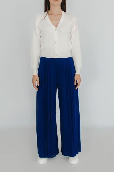 Вязаные брюки плиссе NBL_2008 - TRPLDARKBLU, фото 1 - в интеренет магазине KAPSULA