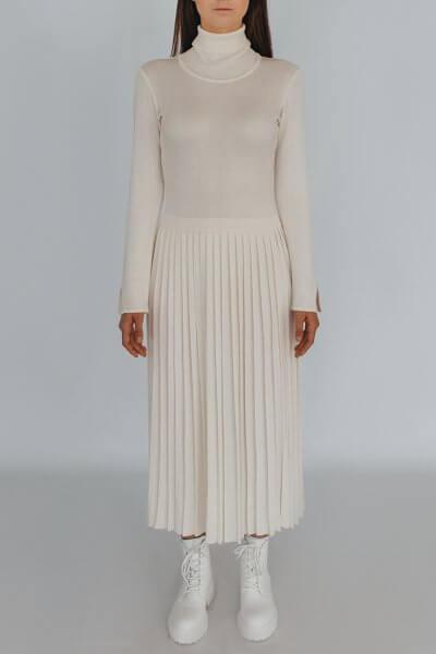 Платье плиссе с высокой горловиной NBL_2009 - DRPIEATW, фото 1 - в интеренет магазине KAPSULA
