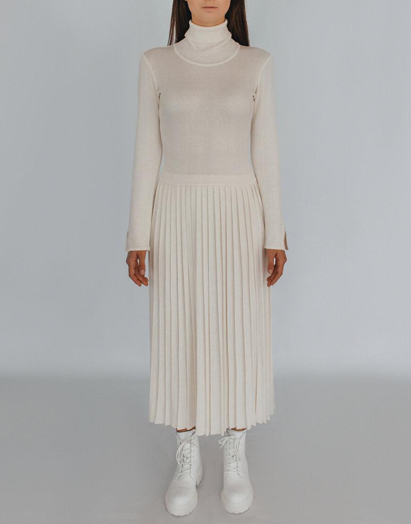 Платье плиссе с высокой горловиной NBL_2009 - DRPIEATW, фото 1 - в интернет магазине KAPSULA