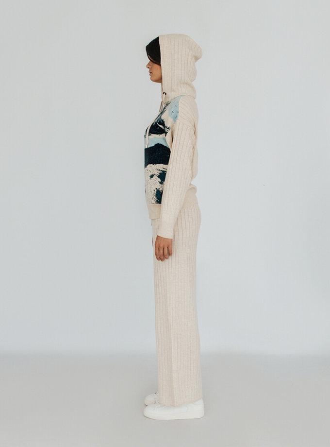 Вязаный костюм с рисунком KBL_2009-SUITHOODTRW-BLU, фото 1 - в интеренет магазине KAPSULA