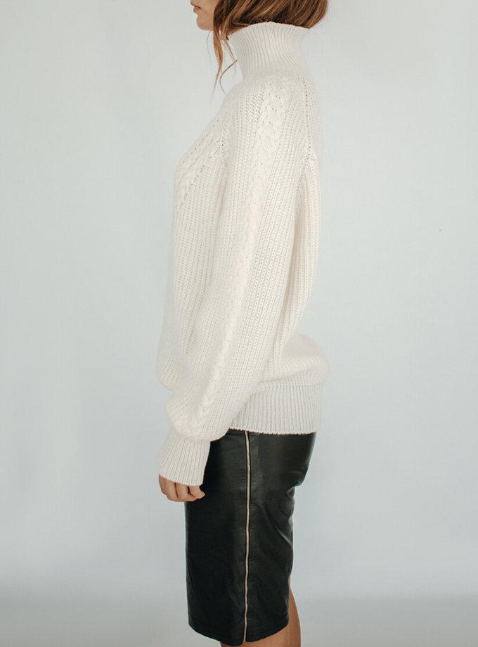 Свитер oversize с косами KBL_2009-SWOVBRW, фото 1 - в интеренет магазине KAPSULA