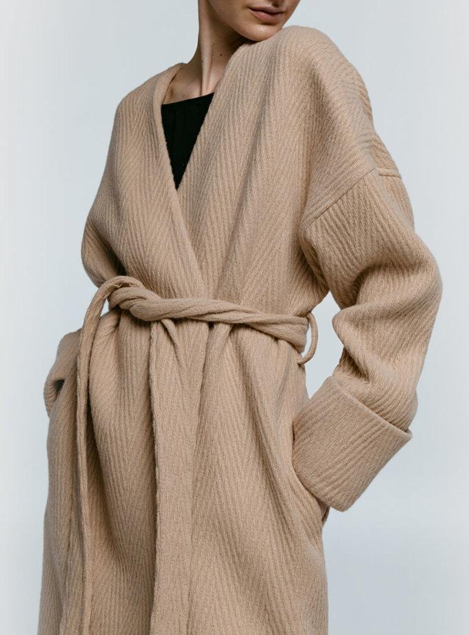 Пальто-кимоно из шерсти NM_363, фото 1 - в интернет магазине KAPSULA
