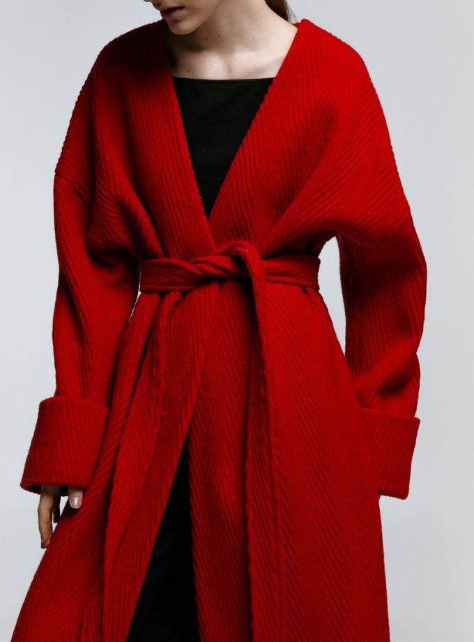 Пальто из шерсти на запах NM_363K, фото 1 - в интеренет магазине KAPSULA