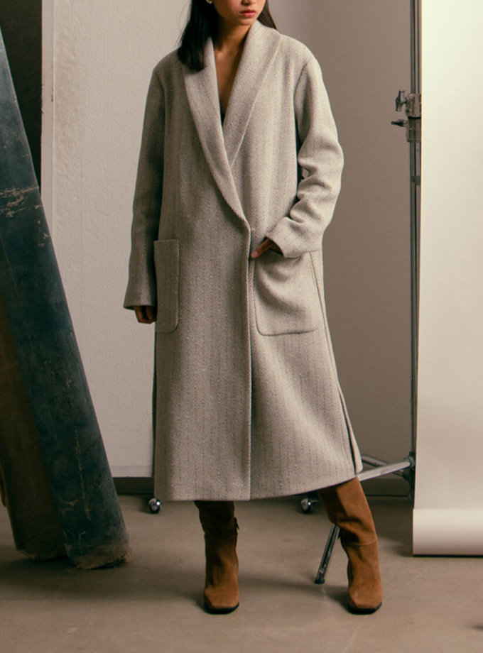 Пальто из шерсти на подкладе NM_396, фото 1 - в интеренет магазине KAPSULA