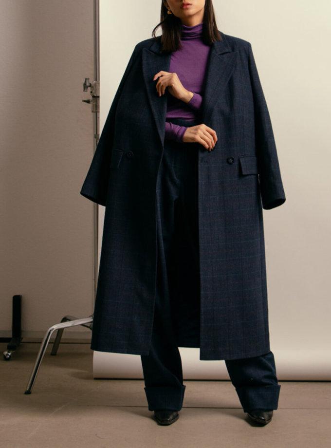 Пальто из шерсти с поясом NM_401, фото 1 - в интернет магазине KAPSULA