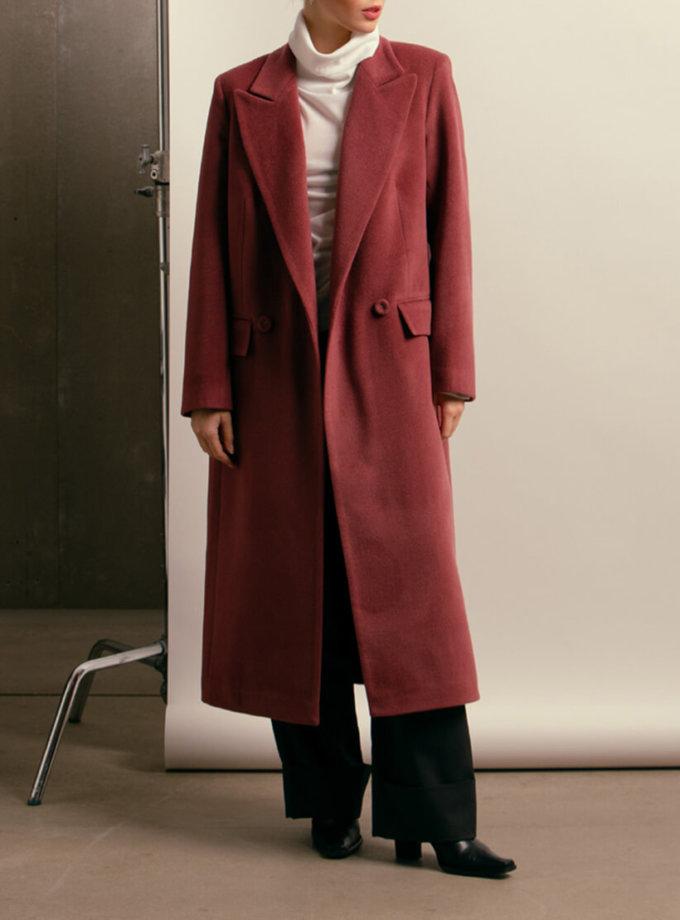 Двубортное пальто из шерсти NM_402, фото 1 - в интернет магазине KAPSULA
