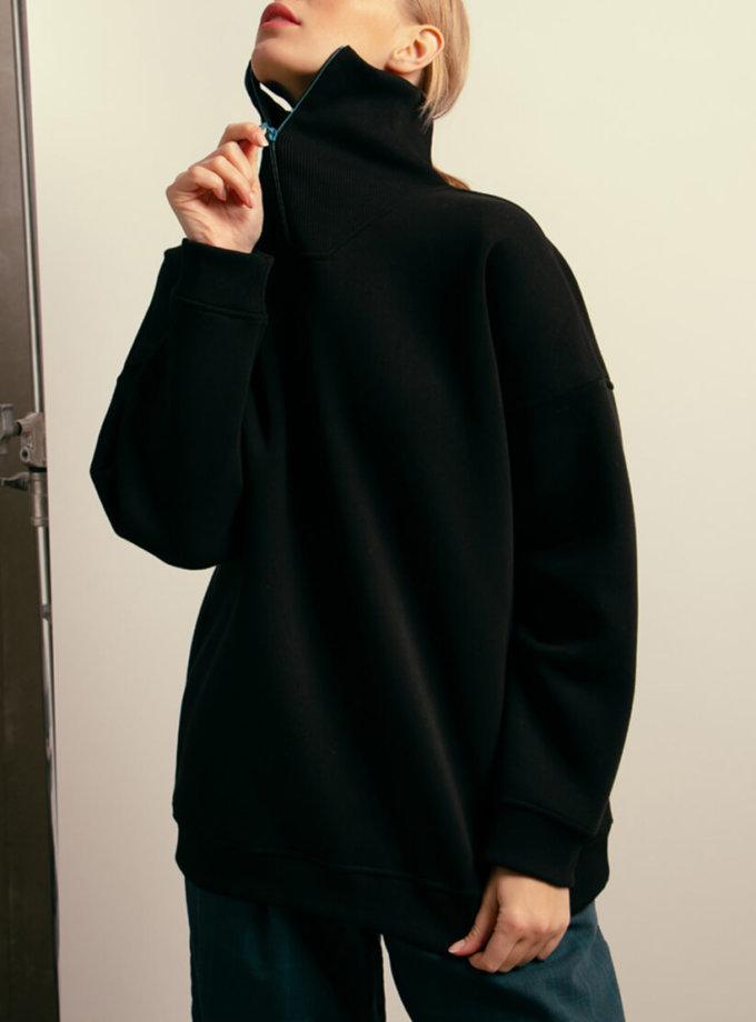 Хлопковый свитшот с молнией NM_406, фото 1 - в интеренет магазине KAPSULA
